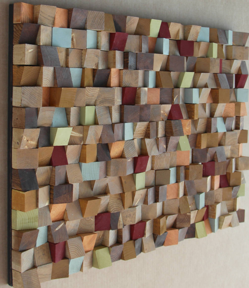 Buy 80 x 120 inch - Extra Large Reclaimed Wood wall Art ...