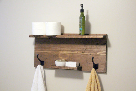 Buy 48 inch large Modern Bathroom 2 Tier Floating Shelf, Towel Rack ...