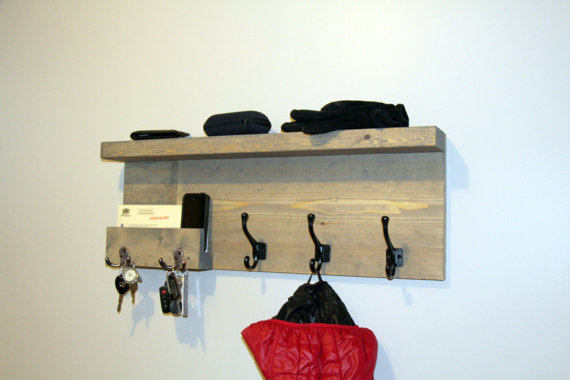 Schon Buy Entryway Storage Coat Rack With Pocket, Mail Storage Coat Hooks, Key  Hooks Shelf