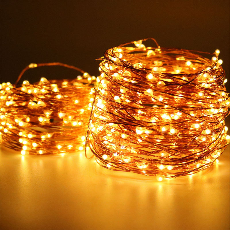 100 Leds 10 Meters Fairy Lights Wedding Decorations Lights Led Mason Jar Light Wedding Decor Firefly Lights Halloween Fairy Lights