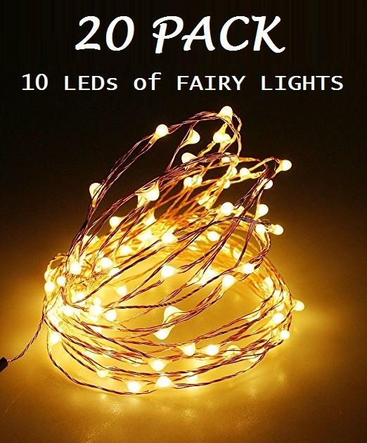 Buy 20 Pack of 10 LEDs Fairy Lights, Wedding Decorations lights, LED ...