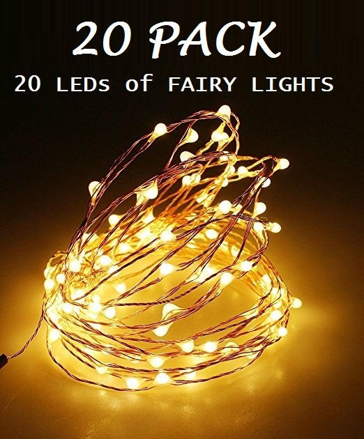 20 Pack Of Leds Fairy Lights Wedding Decorations Led Mason Jar Light Decor Firefly Copper Gbandwood Wooden