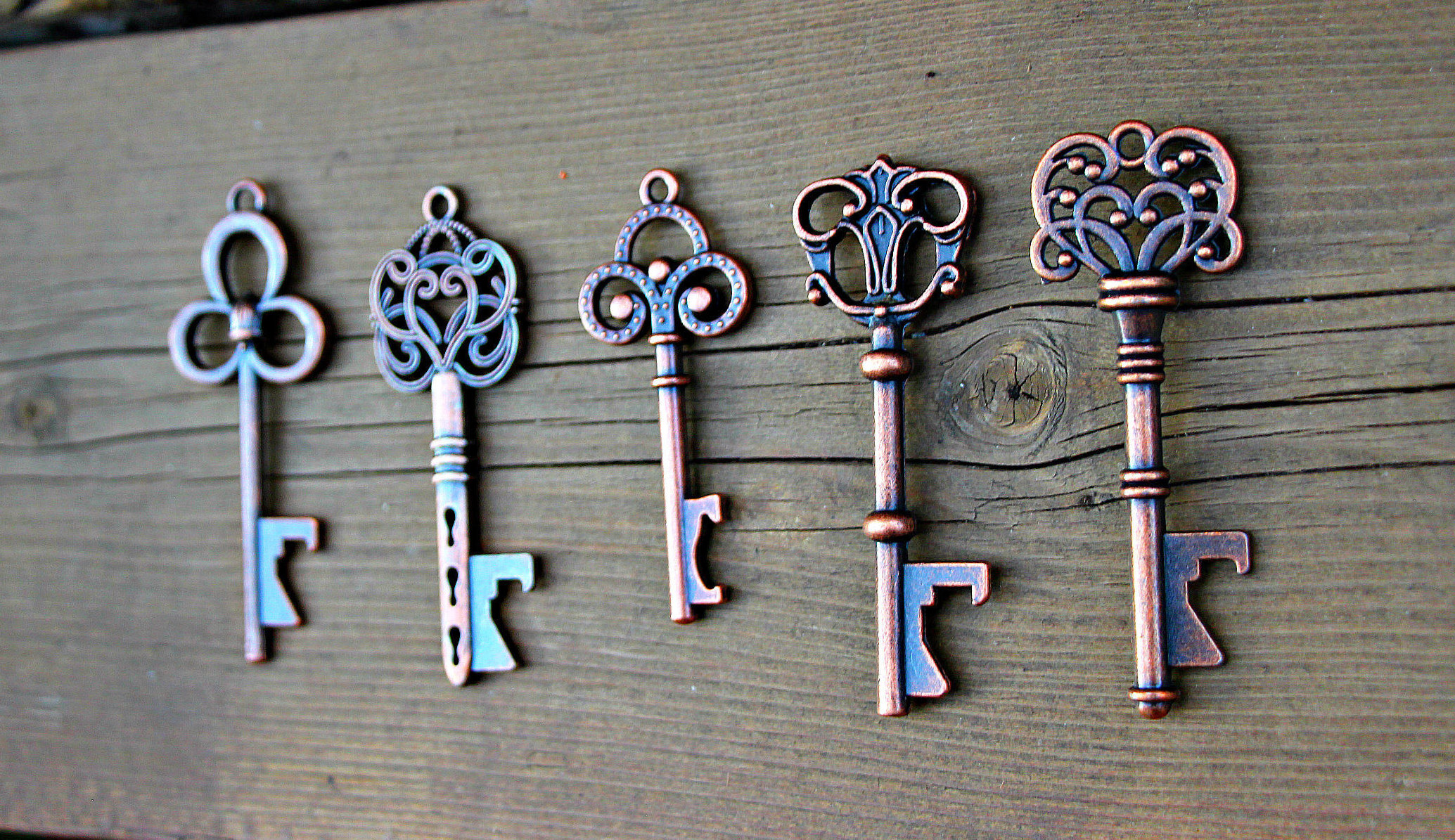 Buy Set of 5, 100 Key Bottle Openers, Vintage Skeleton Keys, Wedding ...