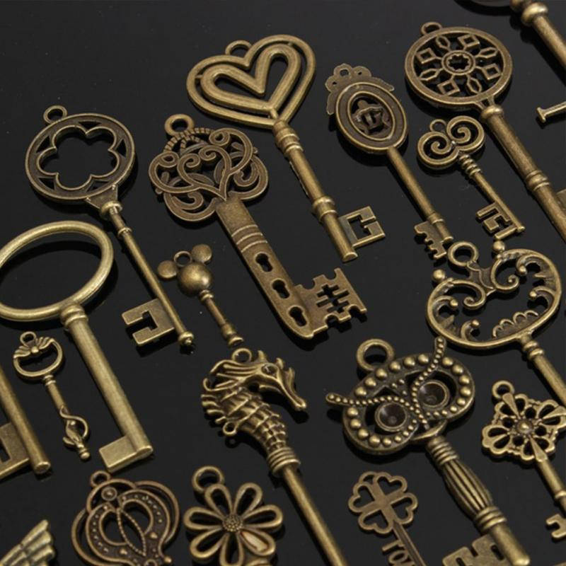 Buy 69 Of Antique Bronze Skeleton Key Charms Pendants Collection