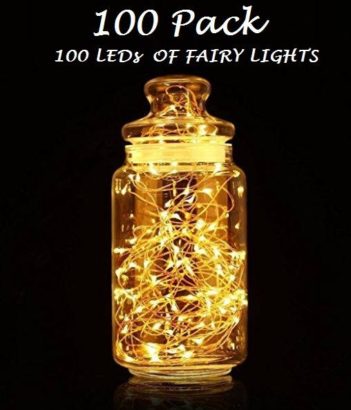 Buy 100 pack of 100 leds fairy lights wedding decorations lights buy 100 pack of 100 leds fairy lights wedding decorations lights led mason jar light wedding decor firefly lights halloween fairy lights gbandwood junglespirit Image collections