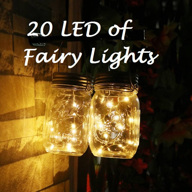 20 Leds Fairy Lights 2 Meters Wedding Decorations Led Mason Jar Light Decor Firefly Party Gbandwood Wooden