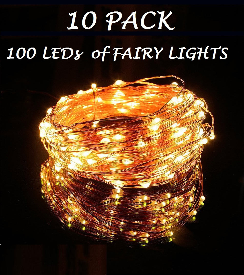 Buy 10 pack of 100 leds fairy lights wedding decorations lights buy 10 pack of 100 leds fairy lights wedding decorations lights led mason jar light wedding decor firefly lights party fairy lights gbandwood wooden junglespirit Choice Image