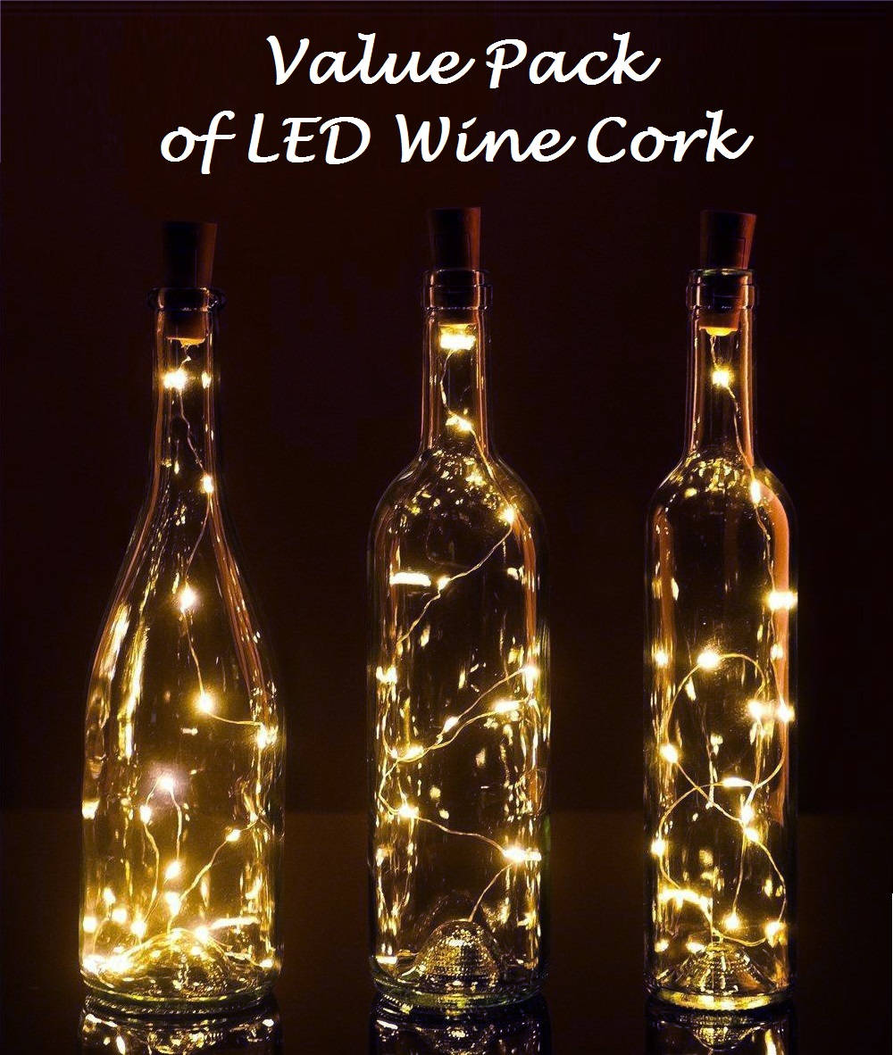 Buy 10 Led Lights Wine Bottle Cork Lights Battery