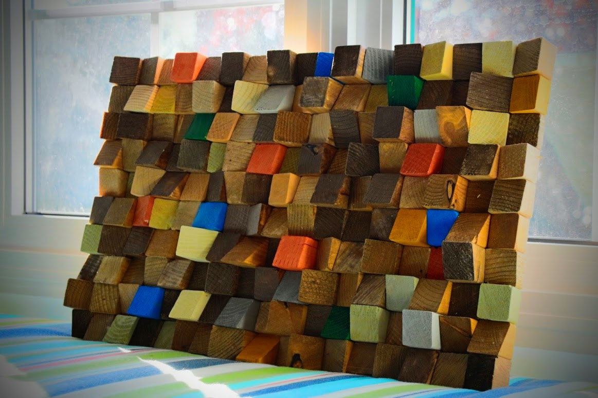 Reclaimed Wood Wall Art Rustic Wall Art Wooden Art Wall Sculpture Reclaimed Wood Wall Art Wood Mosaic Geometric Art